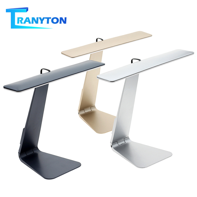 Ultrathin Mac Style LED Desk Lamp 3 Modes Touch Dimming Reading Table Lamp Soft Eye Protection USB Rechargeable LED Night Lights