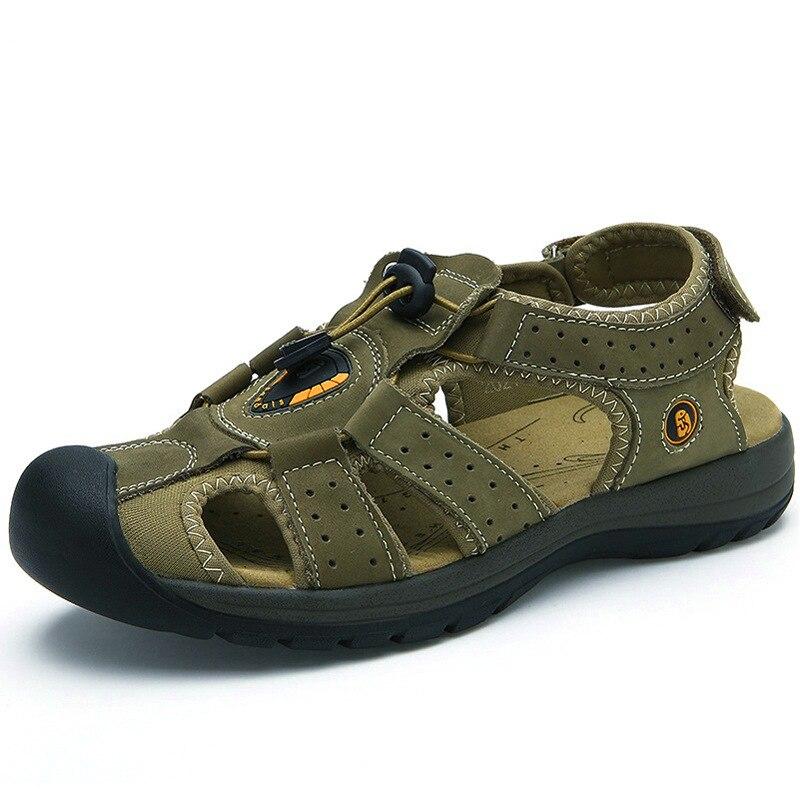Дышащая обувь для мужчин s/Wo мужские летние кожаные акваобувь водонепроницаемые пляжные сандалии водонепроницаемая обувь для мужчин сандалии