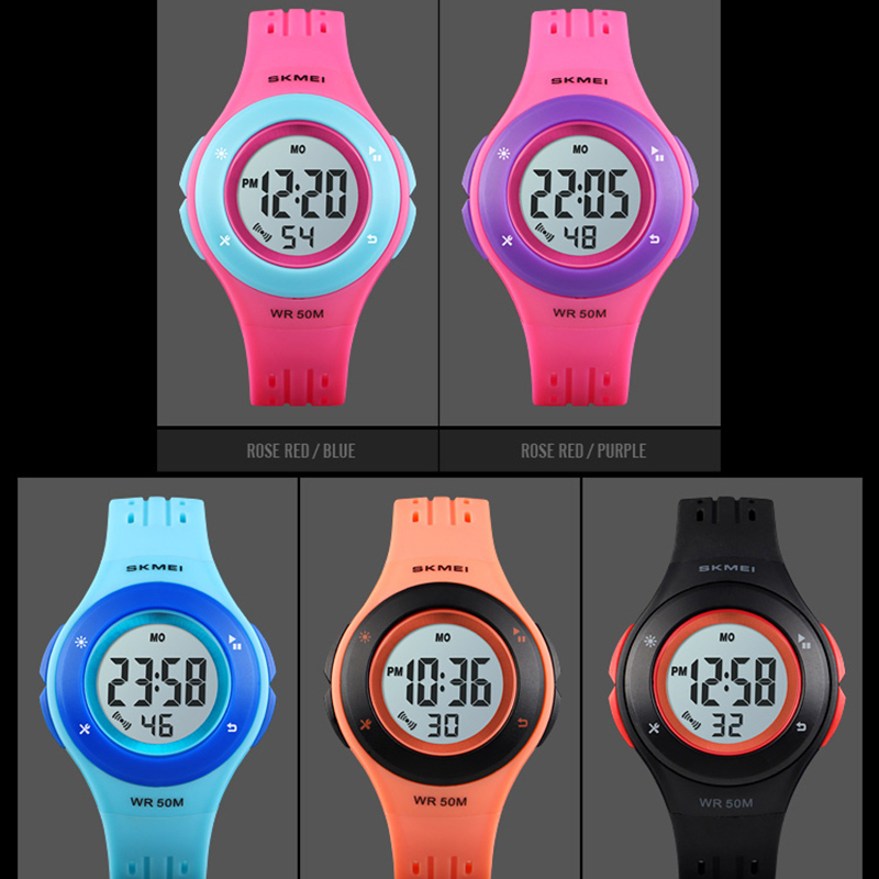 Relógios para Crianças Eletrônico das Crianças Meninas dos Desenhos m à Prova Esporte Estilo Digital Relógio Meninos Animados 50 Dskágua Skmei 2020 Led