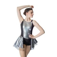 e9e67db909c Erwachsene Mädchen Royal Blue Metallic Tank Trikot Tutu Kleid für Kinder  Leistung Latin Dance(China