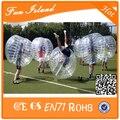 Бесплатная доставка бампер мяч гигантский человеческого тела футбол надувной пузырь мяч костюм для футбол на продажу