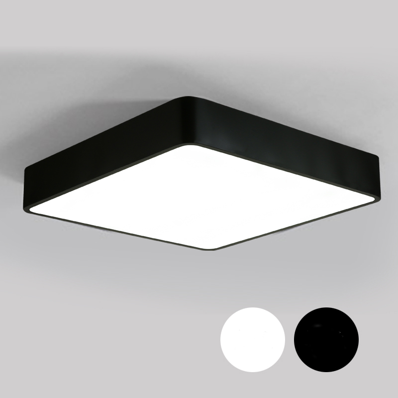 Minimalism Modern LED Ceiling Lights For Living Room Bedroom Black/White Metal Rectangal Home Light Iron Lighting Fixtures new modern led ceiling lights for living room bedroom plafon home lighting combination white and black home deco ceiling lamp