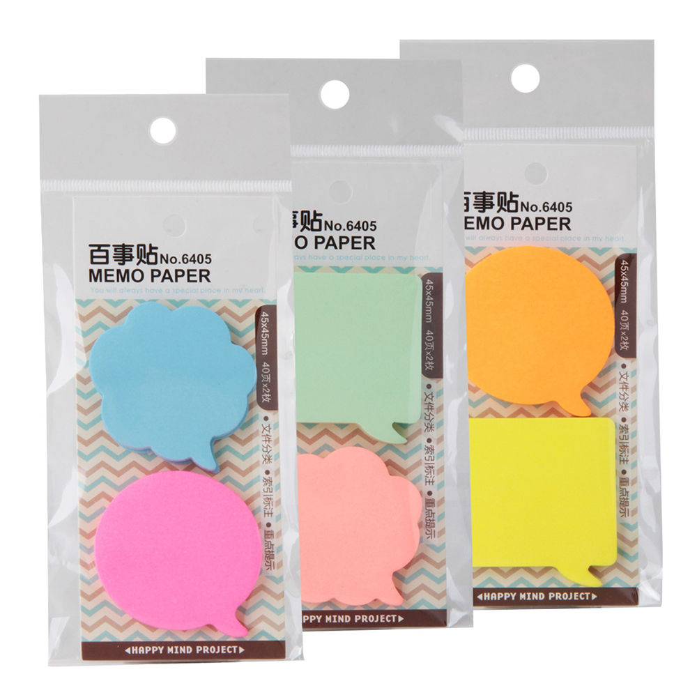Dialog box series memo pad paper Post-it notes sticky note notepad stationery papeleria office school supplies kids gift muji style kraft memo pad blank page mini notepad portable sticky notes post it paper bookmark school office supplies