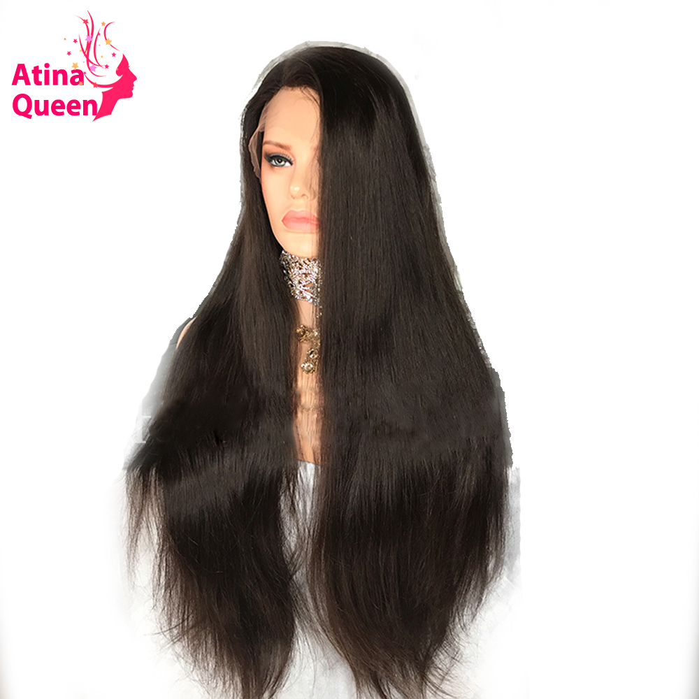 250 Density Lace Front Human Hair Wigs For Women Pre Plucked Black Brazilian Remy Hair Wigs