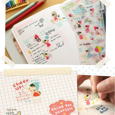 Notebooks & Writing Pads Enthusiastic 6 Pcs Lovely Cartoon Print Memo Sticker Notebook Album Calendar Memo Pad Sticker Diary Notes Scrapbook Paper Sticker 150x100mm