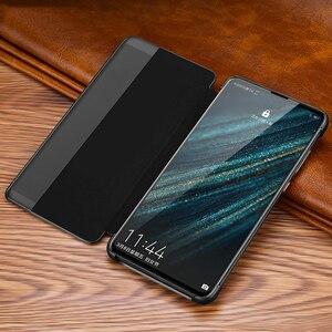 Image 4 - מקורי XOOMZ יען אמיתי צלב עור מקרה עבור Huawei P30 פרו יוקרה חכם אוטומטי Flip כיסוי עבור Huawei P30/פרו טלפון מקרה