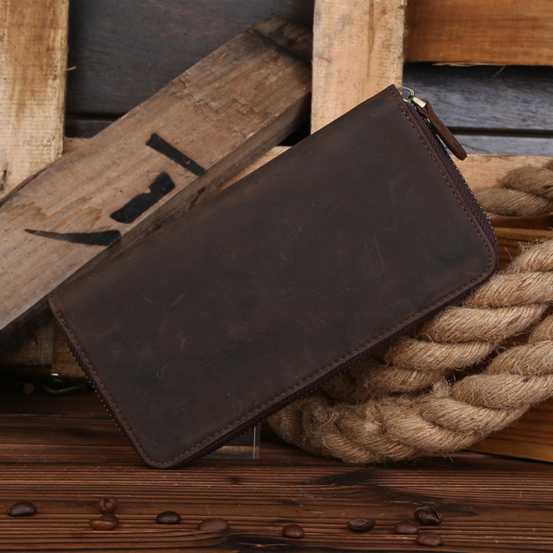 B200...Maxwell Promotion High Quality Vintage 100% Guarantee Crazy Horse Leather Genuine Leather Long Size Men Wallets Purse обои maxwell 15927 32