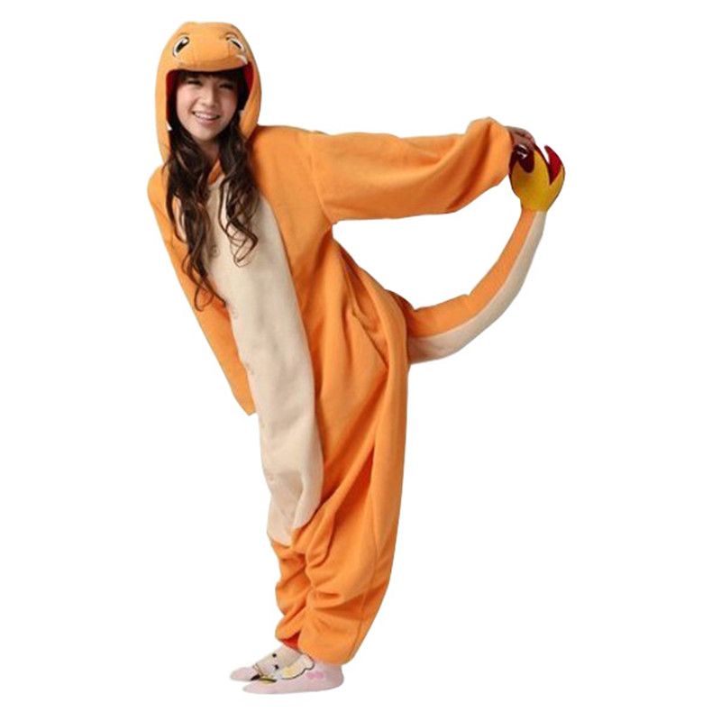 Adult Charizard Jumpsuit Pajama font b Cosplay b font Pyjamas Costume Pop font b Anime b