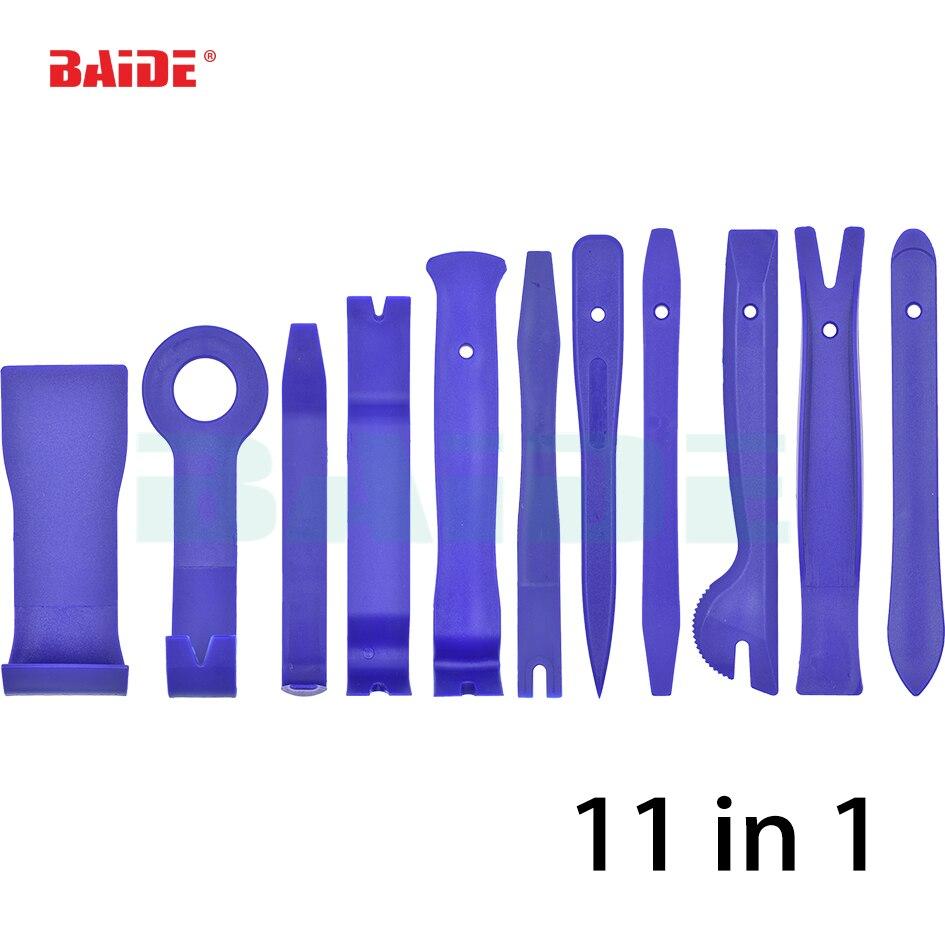 11 шт. двери автомобиля тире аудио Радио Средства удаления Панель отделкой установить Открыть Прай комплект Пластик Инструменты для авто-ре...