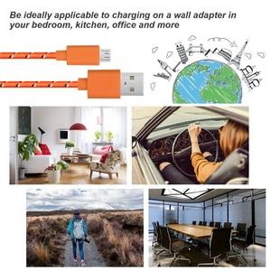 Image 4 - 1m 2m 3m Nylon tressé Micro USB câble données synchronisation USB chargeur câble pour Samsung Huawei Xiaomi Android téléphone câbles charge rapide