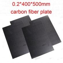 0,2 мм толщина 0,2*400*500 мм Труба из углеродистого волокна 3 K углеродистое волокно углепластика лист листы углеродного волокна T300