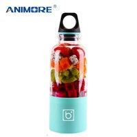 ANIMORE 550ml USB Juicer Cup Oplaadbare Oranje Citrus Citroen Fruit Juicer Blender Sap Smoothie Maker For Household Travel JU 06