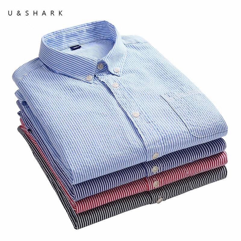U shark autumn 100 cotton men dress shirts long sleeve for 100 cotton dress shirt