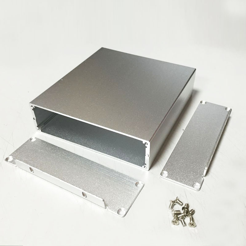 Aluminum enclosure Instrument shell PCB Project box vmm DIY Split type wall mounting amplifier electronics enclosure 2pcs aluminum enclosure electronics box splitted pcb instrument project box shell 145x54x200mm diy new