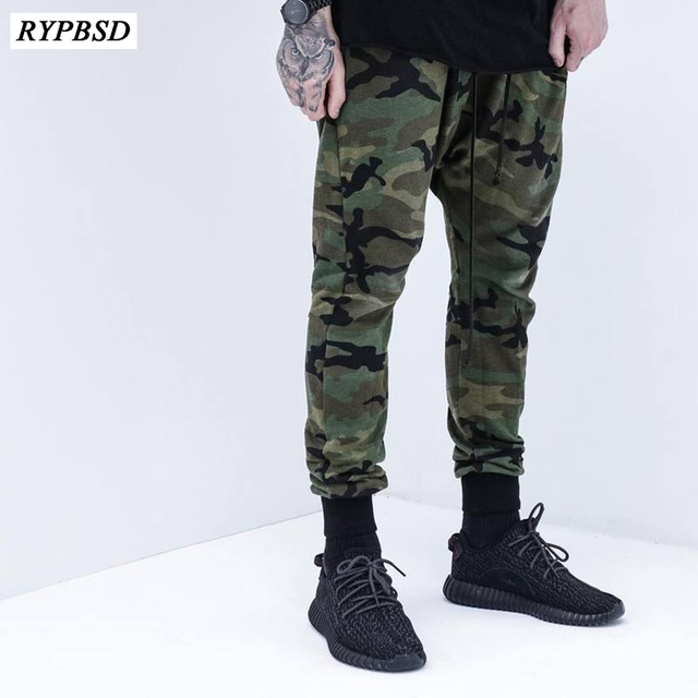 cc637867079a5e 2019 Camouflage Military Pants Men Trousers us Tactical Drawstring Pencil  Loose Pants Men Harem Comfortable Cargo Camo Joggers