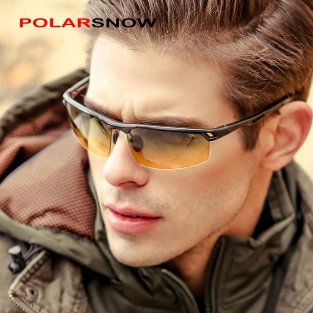 Día noche conductor de aluminio-magnesio gafas de sol polarizadas de los hombres new 2017 hombres de calidad superior gafas de sol gafas de visión nocturna