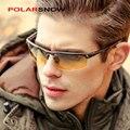 Homens polarizada dia e noite motorista óculos de sol de alumínio-magnésio new 2017 top qualidade masculino óculos óculos de sol óculos de visão noturna