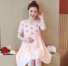 2019 красивое платье кружевное платье для беременных женщин короткое платье с рукавами длинная юбка D-39