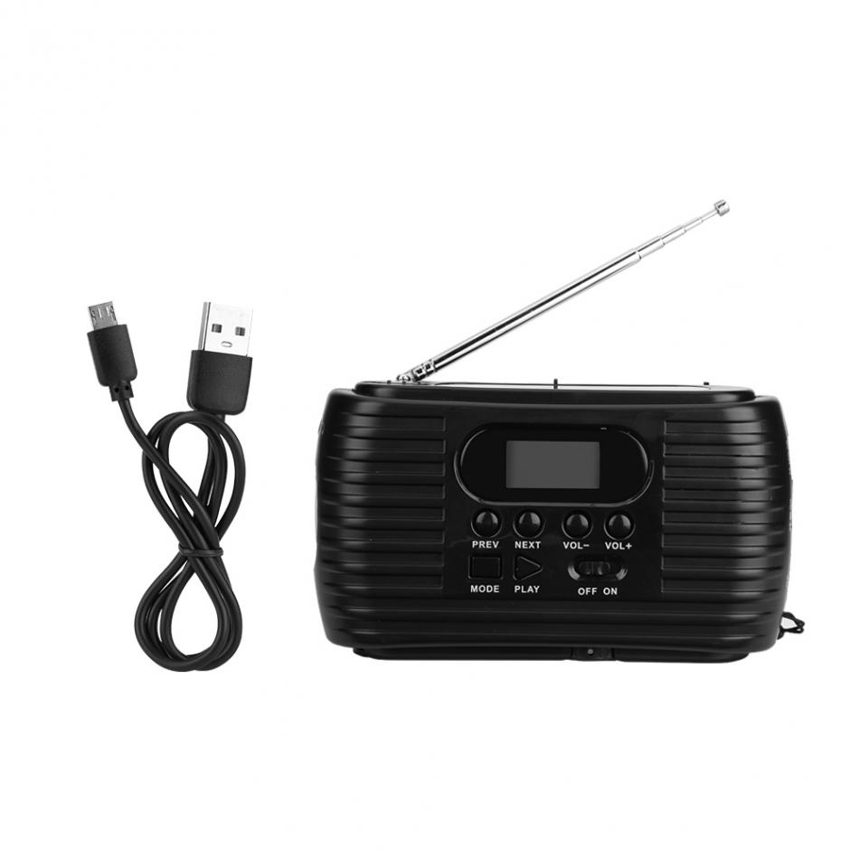 Portable Mini AM FM Radio Hand Crank Power Solar Power Radio Supply Emergency Mp3 Music Player