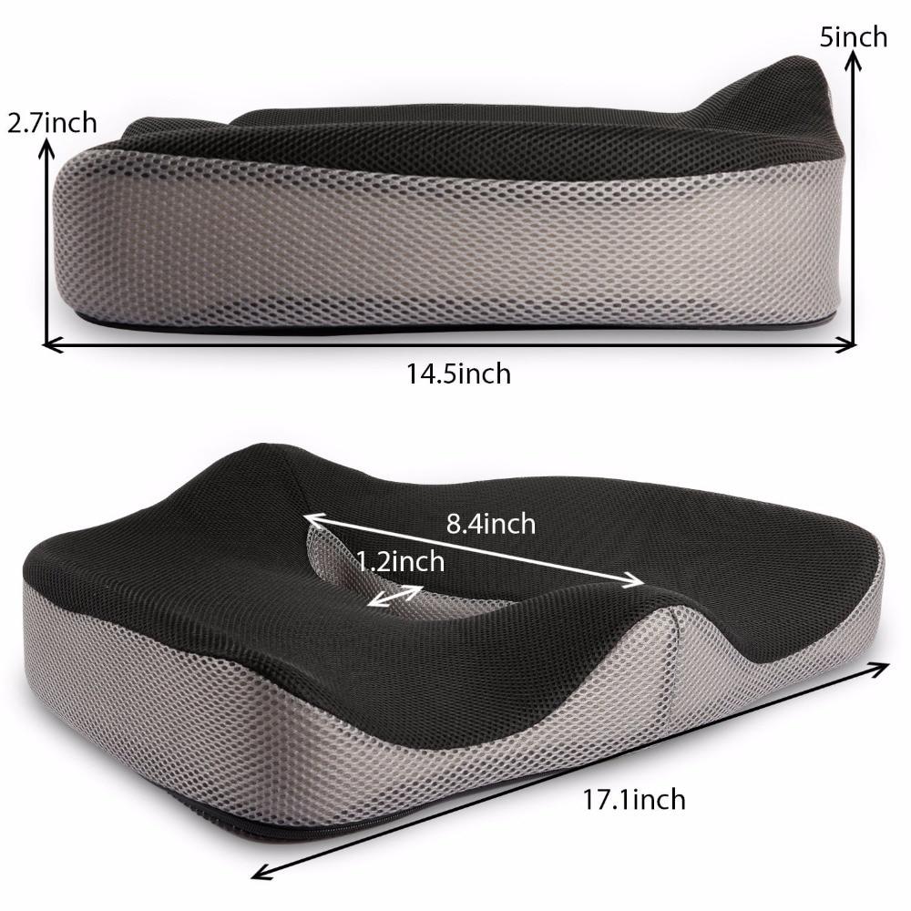 Coccyx Orthopedic Comfortable Memory Foam Chair Car Seat Cushion for Lower Back Tailbone Medical Hemorrhoids Cushion Coccyx Orthopedic Comfortable Memory Foam Chair Car Seat Cushion for Lower Back Tailbone Medical Hemorrhoids Cushion Almofadas