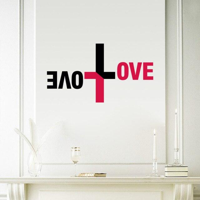 Bunte Liebe Gott Wand Vinyl Aufkleber Kreuz Wandtattoo Jesus Christus Psalm  Beten Bibel Schlafzimmer Wandbild