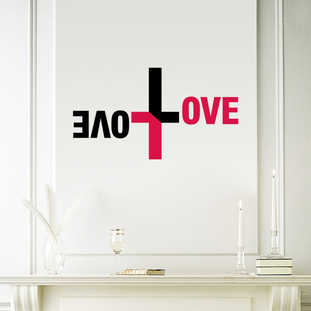 Psalms wall decals christian wall decals ine walls - Colorful Love God Wall Vinyl Sticker Cross Wall Decal Jesus Christ Psalm Pray Bible Bedroom Mural