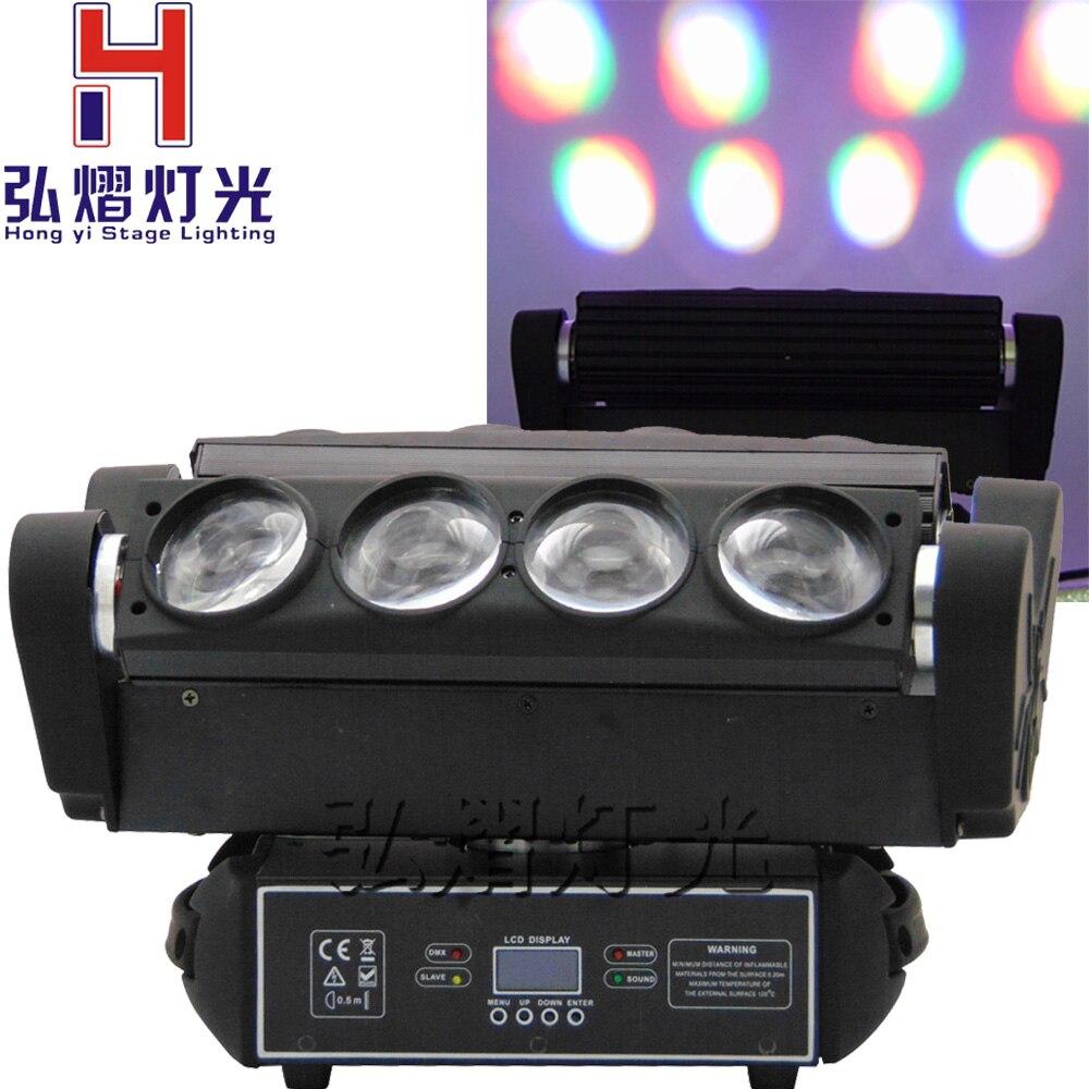 1 Pcs/lot 8x10 W RGBW 4IN1 LED Araignée Faisceau Mobile Head Light disco faisceau tournant led tête mobile araignée lumière