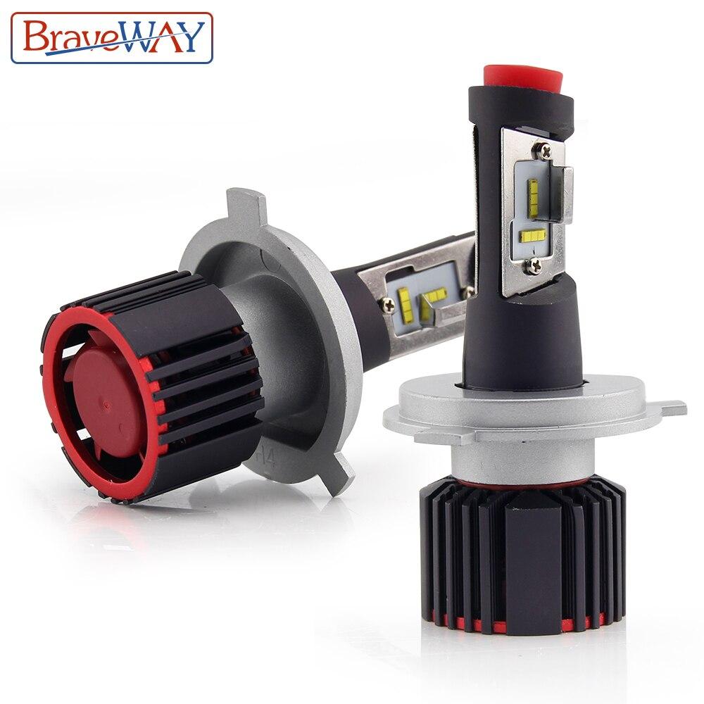 цена на BraveWay 16000LM 100W H4 LED H7 H11 9005/HB3 9006/HB4 Auto Led Light Car Headlight Bulb HeadLamp for Car Super LED CSP Chip Bulb