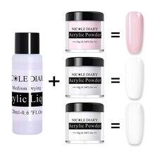 NICOLE DIARY Acrylic Powder 10ml Tip Extension French Nail P