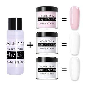 Image 1 - NICOLE DIARY Acrylic Powder 10ml Tip Extension French Nail Polymer Powder Nail  Builder Nail Polymer Nail Tools