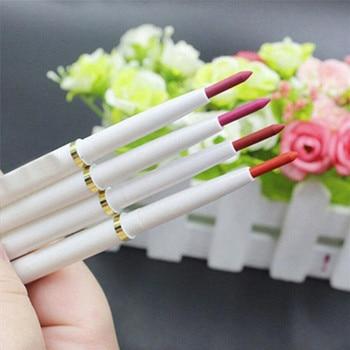6 Colors Nude Lip Pen Long Lasting Waterproof Multi-Functional Autorotation Lip Liner Pencil Lady Beauty Makeup Tool