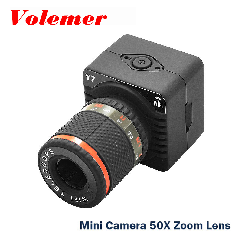 цены Volemer Y7 Wifi P2P Mini Camera Mobile Phone Point-to-Point Digital Mini Camcorder Zoom Lens Wireless Wifi AP Focus Cam PK C1