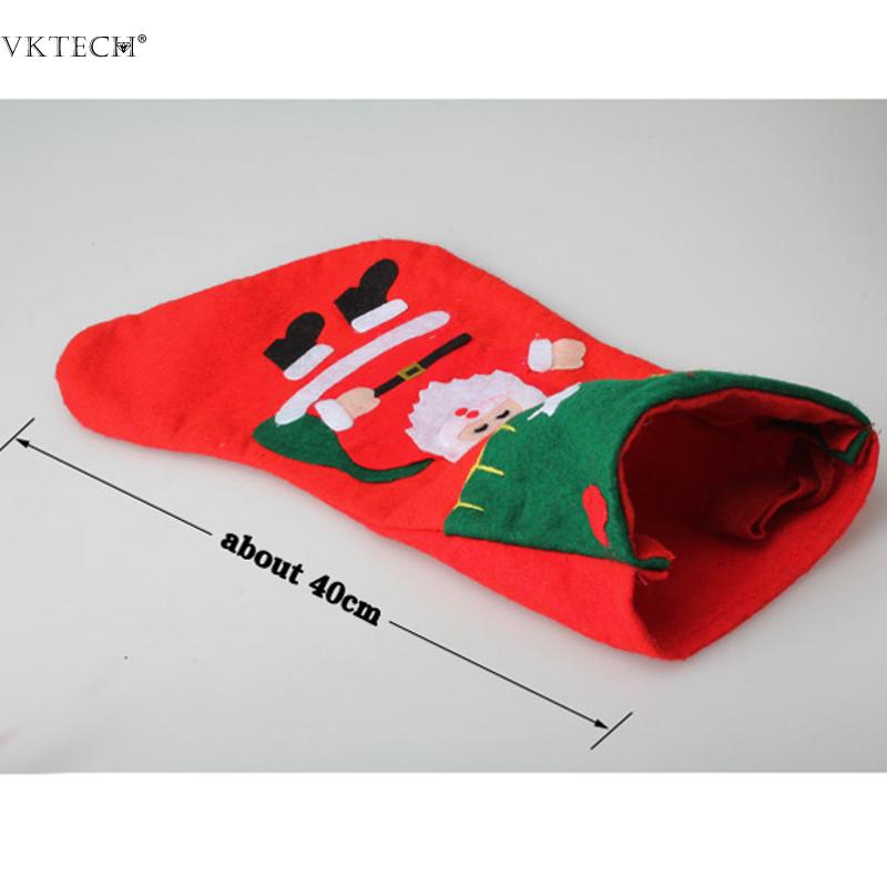 Christmas Stockings navidad santa claus Stocking for New Year Christmas Decoration Children Gifts Candy Bags Christmas Ornaments