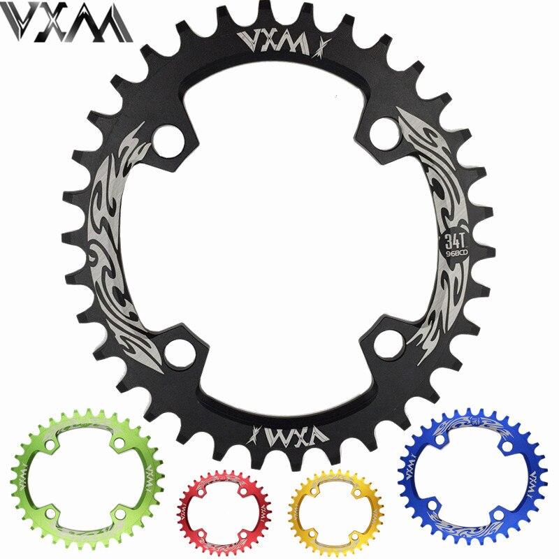 VXM Bicycle Crank & Chainwheel 96BCD 32T/34T/36T/38T Oval Narrow Wide Chainring MTB Road Bike Crankset Chainwheel Bicycle Parts
