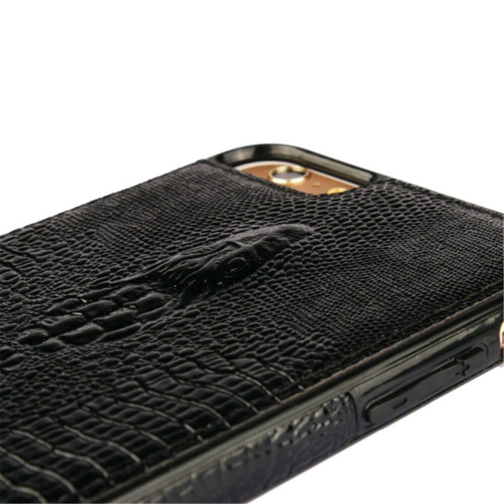 יוקרה נרתיק עור עבור iPhone 6 תנין תיק 3D עור כיסוי עבור iPhone 6 S טלפון נייד שקיות (4.7 אינץ')