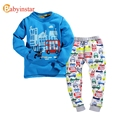 Babyinstar Boys Girls Pajama  Sets Cotton Children Sleepwear Long Sleeve Pajama Cartoon Car Pattern Fleece Kids Pajama Sets