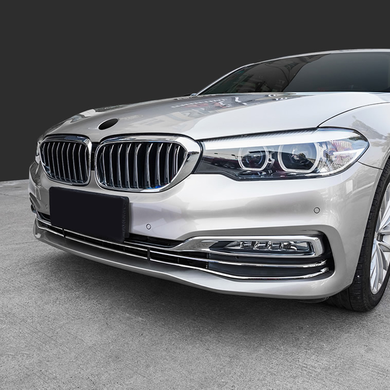 6PCS Stainless Steel Front Bumper Radiator Grille Honeycomb Trim For BMW 5 Series G30 2017-2018 26pcs stainless steel outer front bumper