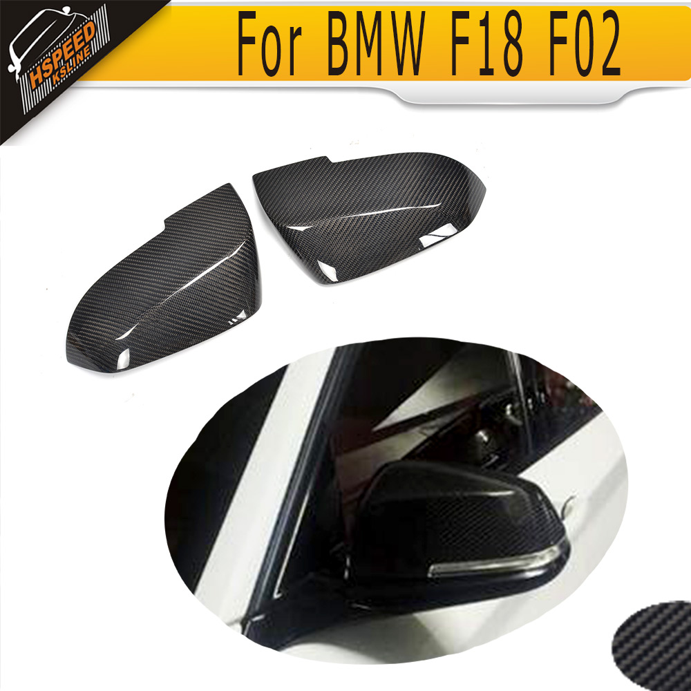 Carbon Fiber Replacement Mirror cover for <font><b>BMW</b></font> 5 Series F10 <font><b>F11</b></font> 2014 <font><b>2015</b></font> 2016 image