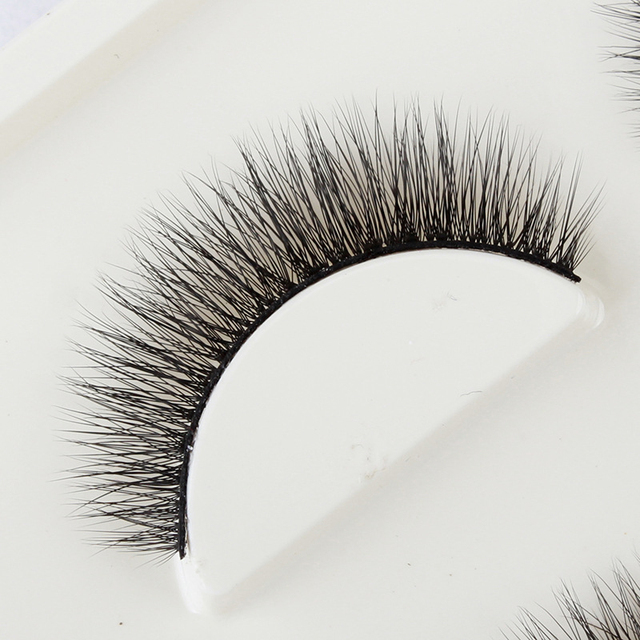 YOKPN New 3D Stereo Multilayer Fake Eyelashes Black Cotton Stalk Eyelash Natural Simulation False Eye Lashes Makeup Tips 3 Pairs 4