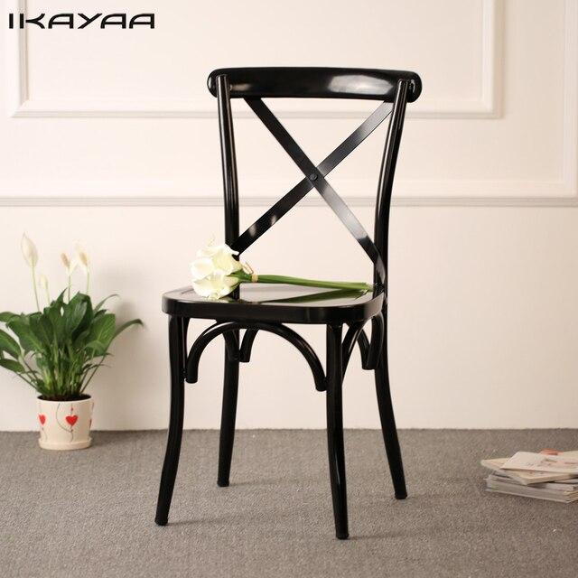 IKayaa estilo Industrial Metal cocina sillas taburete diseño ...