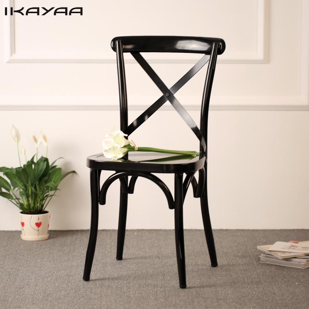 iKayaa Industrial Style Metal Kitchen Dining Chairs Stool