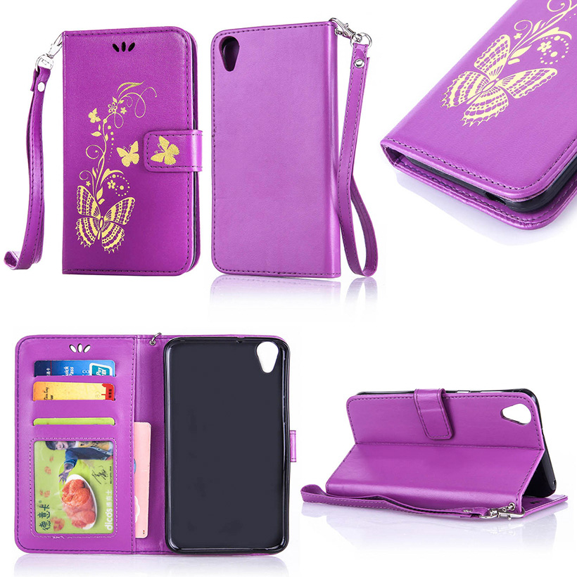 Bronzing Butterfly Mobile Phone Cases For HTC Desire 820 D820U D820 D820T 820G 820G+ Dual Sim 820S Covers Bags Shell Skin Hood