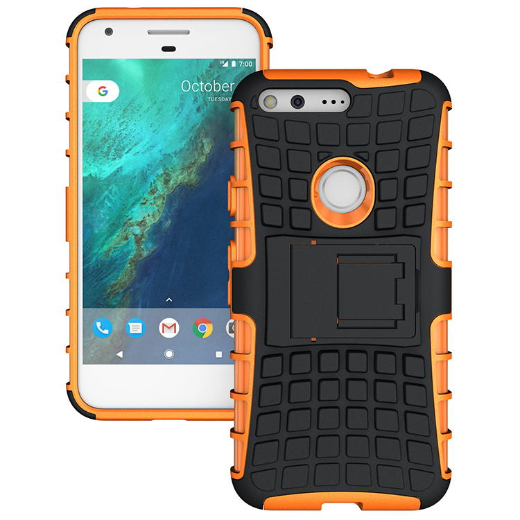 Phone Case For Google Pixel Case Hybrid Armor Silicone TPU &Amp; PC Hard Shell Dual Protective Cover Case For Google Pixel XL Case