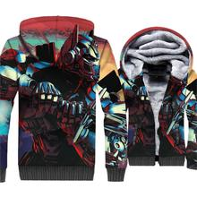 Game Jacket 3D Print Hip Hop Hoodie Men Cool Hooded Sweatshirt Winter Thick Fleece Warm Zip up High Quality Coat Plus Size 5XL недорого