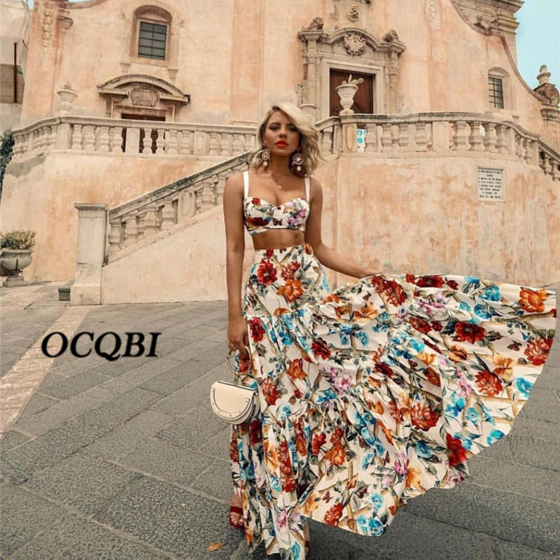 Plus Size 3XL 2019 Women Summer Bohemian Beach Print Dress Sexy Party Night Elegant Maxi White Dress-in Dresses from Women's Clothing
