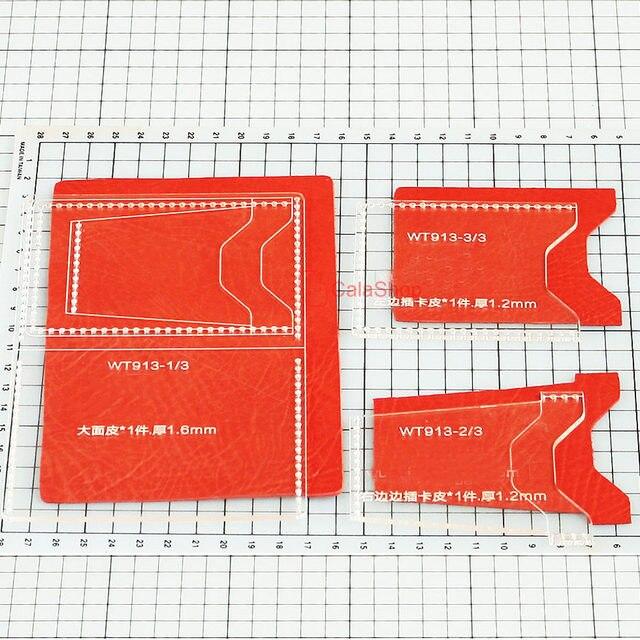 Online Shop 1 Pcs / Lot Acrylic Wallet Leather Template Model For