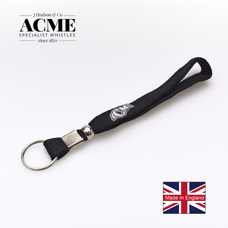 Acme Football Sports Accessories Wrist Lanyards For Referees Whistle Black