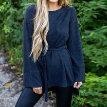 262e6788296 2018 OL Women Casual Thirt Long Flare Sleeve Autumn Fashion Female Ladies T-shirt  Women