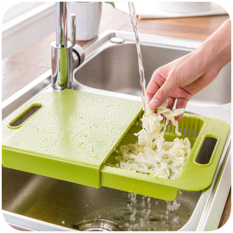 Korean Kitchen Sink Cutting Board, Plastic Drain Basket Vegetables Cut With  One Washing Sink Rack In Chopping Blocks From Home U0026 Garden On  Aliexpress.com ...