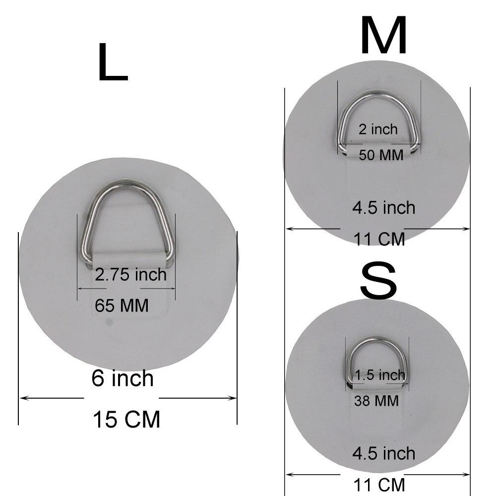 1 pcs en acier Inoxydable D anneau Pad PVC D Anneau Patch pour PVC Gonflable Bateau Radeau Dériveur